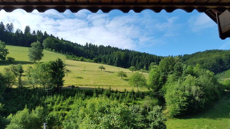 Aussicht Balkon Gästezimmer Pension Oberharmersbach