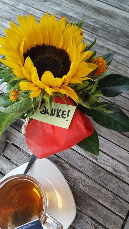 Blumen als Dankeschön!