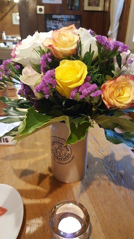 Blumen zum Geburtstag der Wirtin vom Jägerstüble