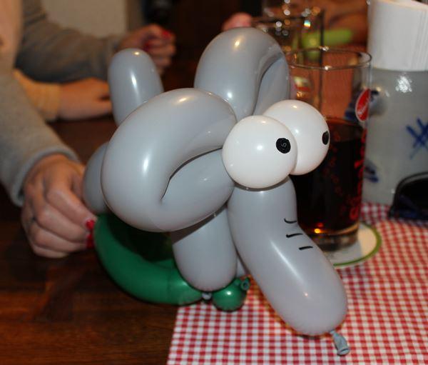 Luftballonfigur Elefant