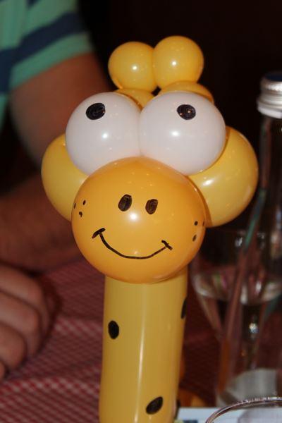 Ballonskunst Giraffe